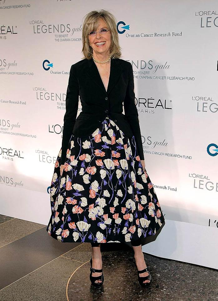 "At 62, Diane Keaton is still gorgeous, but we would've preferred seeing her in a smart pantsuit than this voluminous skirt. Jemal Countess/<a href=""http://www.wireimage.com"" target=""new"">WireImage.com</a> - November 10, 2008"