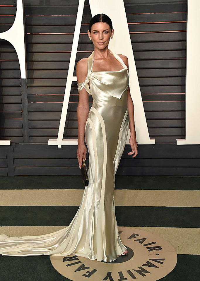 <p><strong>When: Feb. 28, 2016 </strong><br />Who says you can't wear your wedding dress twice? Liberty recycled the silky, cream-coloured vintage Dior wedding dress she got married in to Jimmy Iovine at a 2016 <em>Vanity Fair</em> Oscar Party. (<em>Photo: Getty</em>) </p>