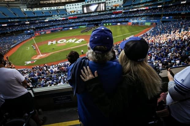 Toronto Blue Jays fans returned to Rogers Centre on Friday for the first home game since Sept. 29, 2019. (Evan Tsuyoshi Mitsui/CBC - image credit)
