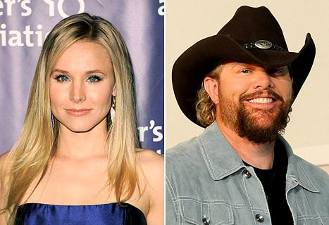 Kristen Bell and Toby Keith Hosting CMT Music Awards June 6