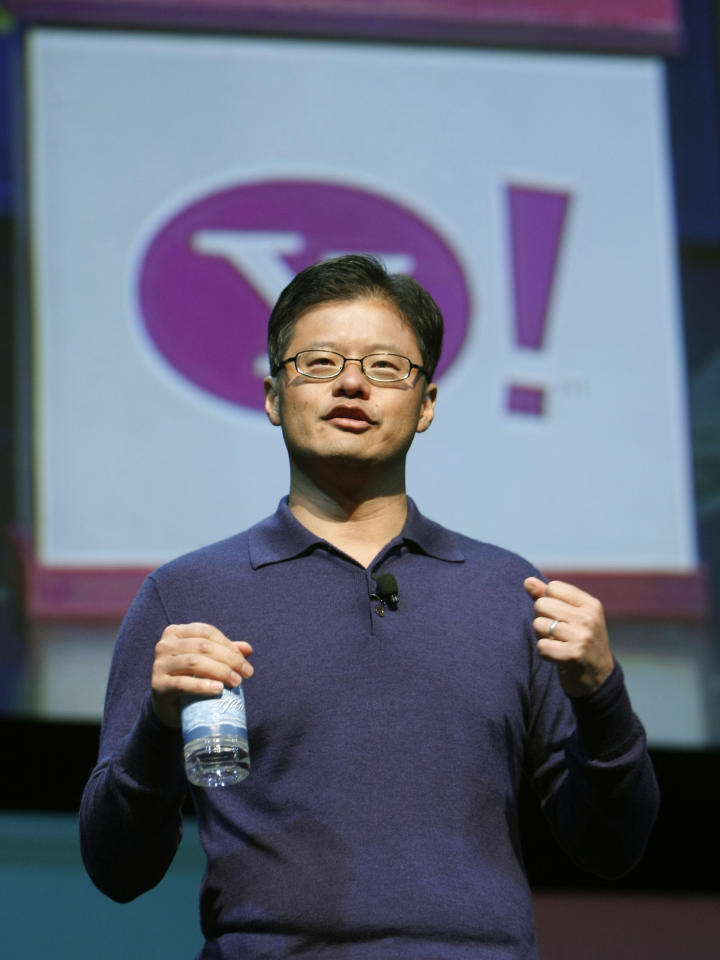 Jerry Yang, Yahoo CEO and co-founder speaks at a keynote address at the CES in Las Vegas