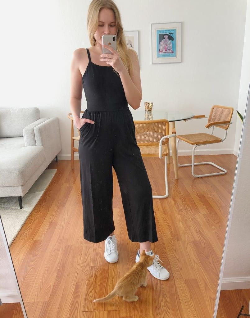 """<p><strong>The item: </strong><span>Old Navy Square-Neck Cami Jumpsuit</span> ($28, originally $40) </p><p><strong>What our editor said: </strong>""""The jumpsuit ticks all my boxes: it has pockets, it's comfy, I can wear it around the house and outside with sneakers, sandals, you name it. . . . If you're also looking to spruce up your closet, then there's no doubt a comfortable jumpsuit is the way to go."""" - KJ</p> <p>If you want to read more, here is the <a href=""""https://www.popsugar.com/fashion/most-comfortable-jumpsuit-from-old-navy-47415914"""" class=""""link rapid-noclick-resp"""" rel=""""nofollow noopener"""" target=""""_blank"""" data-ylk=""""slk:complete review"""">complete review</a>.</p> <p><br></p>"""