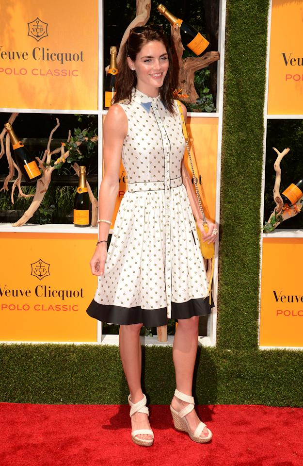 JERSEY CITY, NJ - JUNE 02:  Model Hilary Rhoda attends the fifth annual Veuve Clicquot Polo Classic on June 2, 2012 in Jersey City.  (Photo by Andrew H. Walker/Getty Images for Veuve Clicquot Polo Classic)