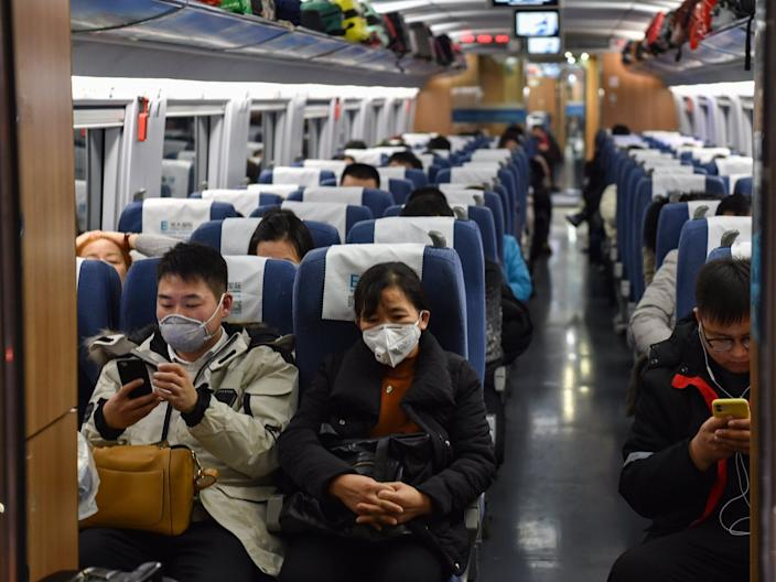 Train Shanghai to Wuhan January 23 lockdown coronavirus outbreak
