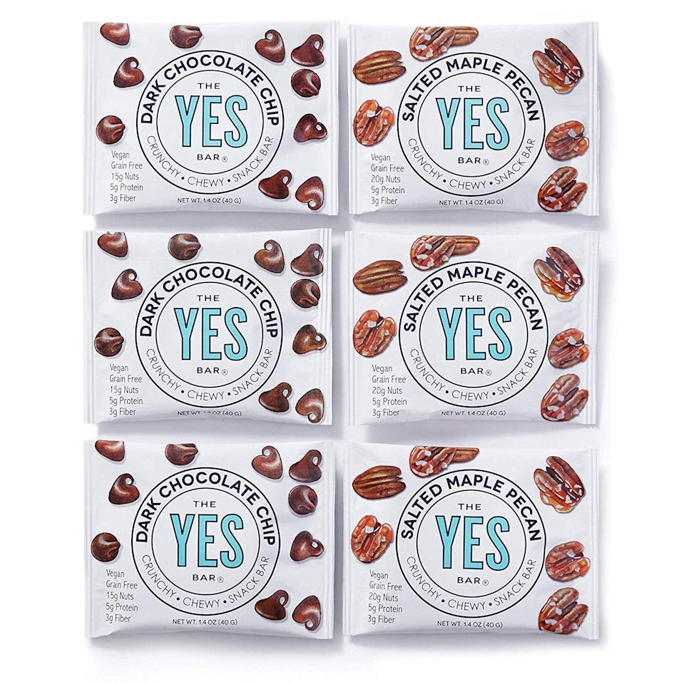 <p>We love how satisfying these <span>Yes Bars</span> ($15 for six) are. We can pronounce the ingredients, and the taste reminds us more of cookies than cardboard; plus, they've got 10 grams of net carbs.</p>