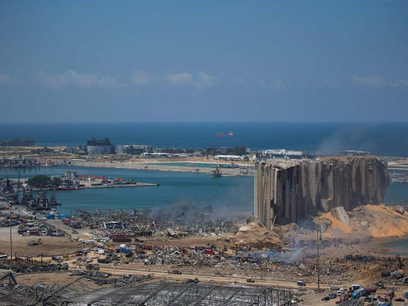 People work at the site were a massive explosion occurred that shook Beirut on Aug. 5, 2020 in Lebanon: Getty Images
