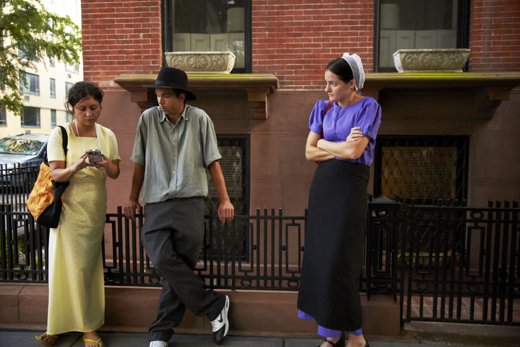 "Sabrina, Jeremiah and Kate on TLC's ""Breaking Amish."""