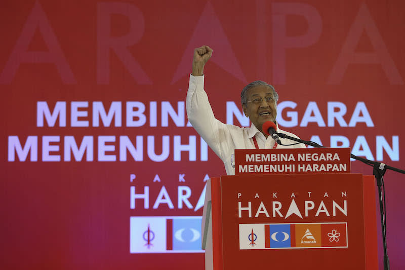 Pakatan cries double standards after EC bans use of Dr M chair on polls banners