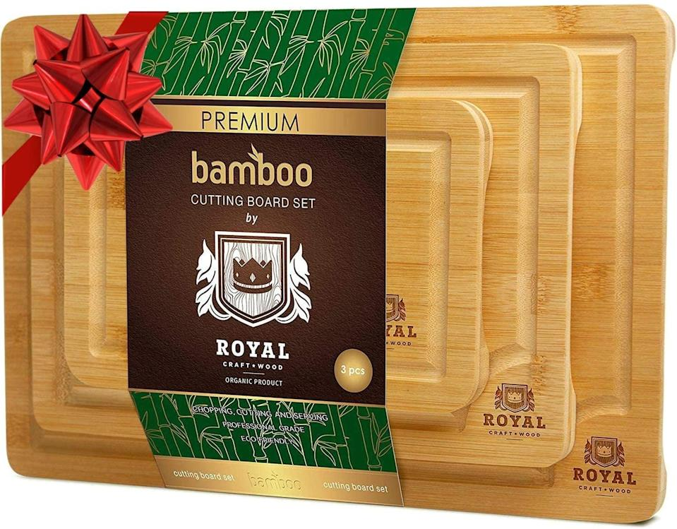 <p><span>Organic Bamboo Cutting Board With Juice Groove (3-Piece Set)</span> ($20, originally $28)</p>