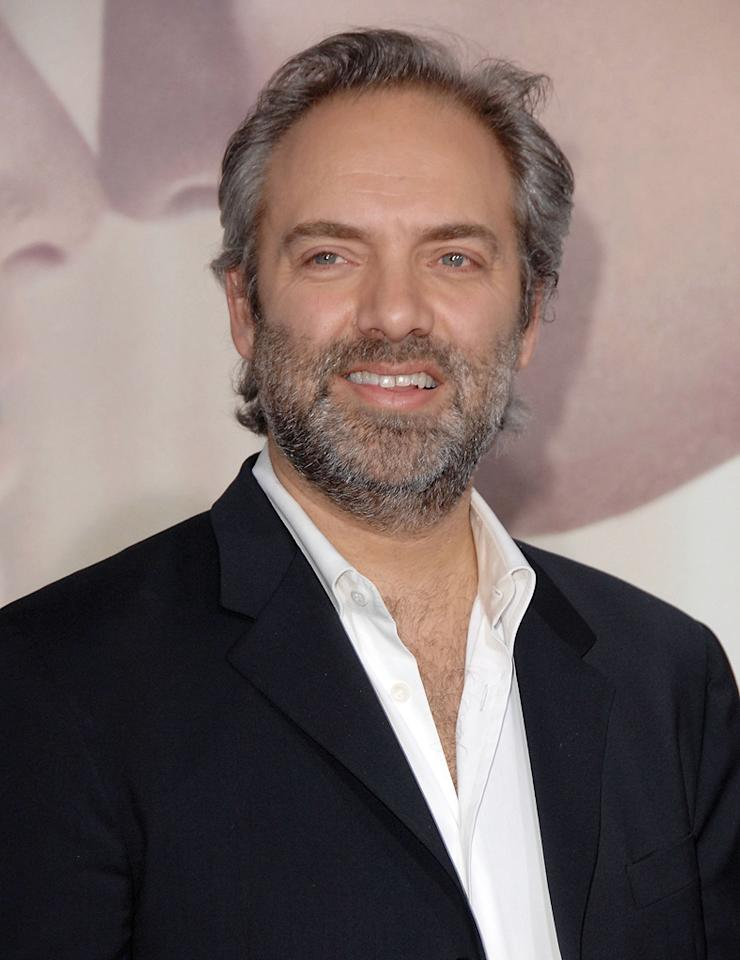 """<a href=""""http://movies.yahoo.com/movie/contributor/1800018631"""">Sam Mendes</a> at the Los Angeles premiere of <a href=""""http://movies.yahoo.com/movie/1809883886/info"""">Revolutionary Road</a> - 12/15/2008"""
