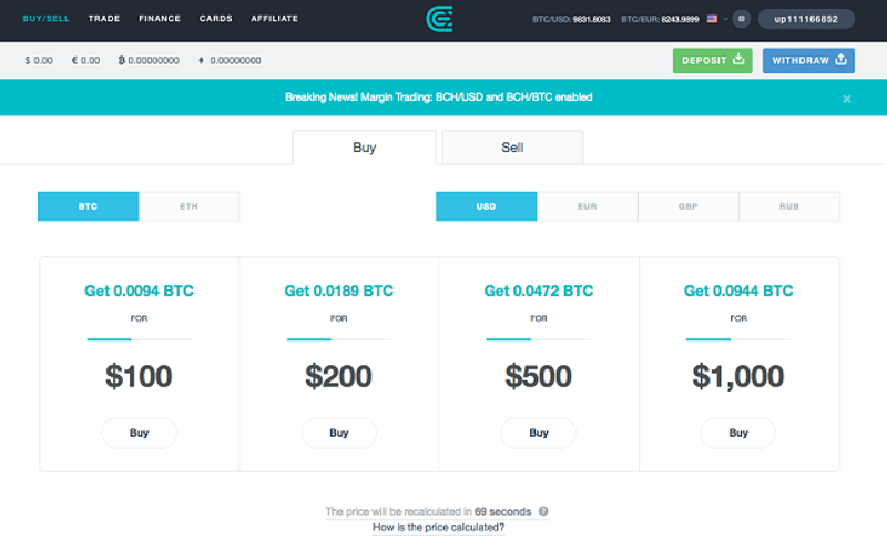 CEX.IO – Buy Bitcoin