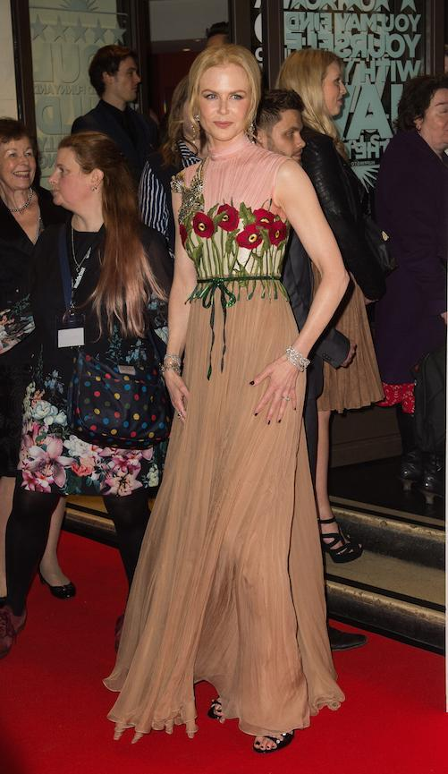 In another Gucci gown at an event in 2016
