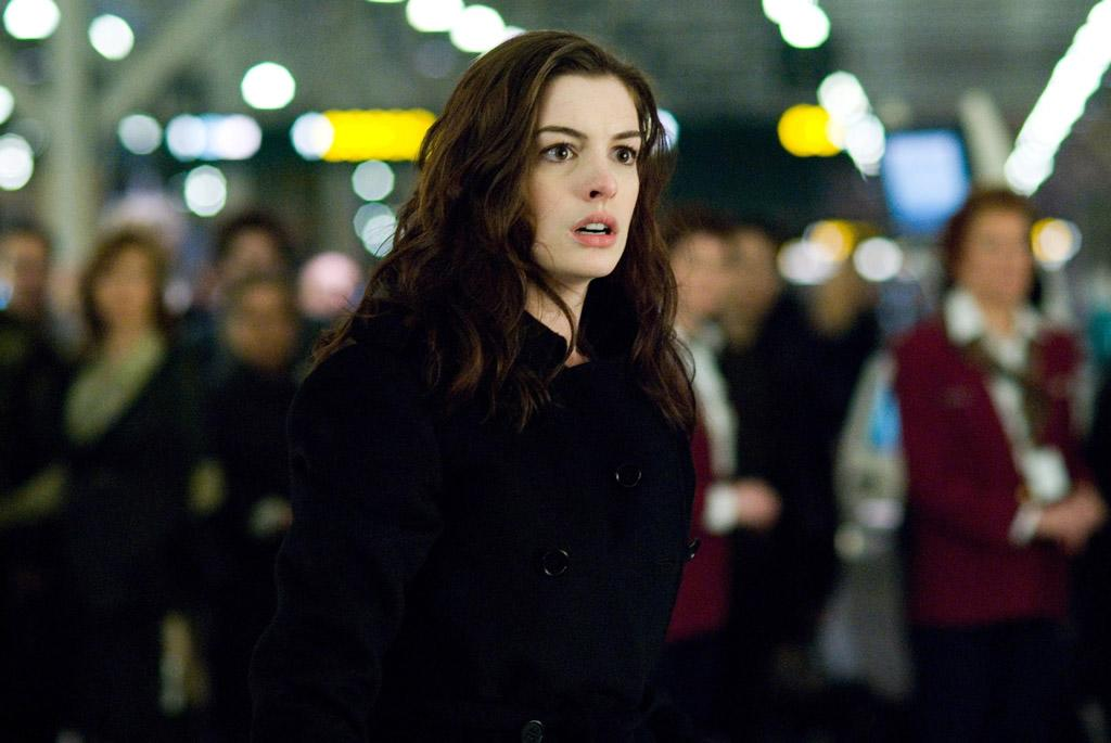 """<a href=""""http://movies.yahoo.com/movie/contributor/1804705919"""">Anne Hathaway</a> in Sony Pictures' <a href=""""http://movies.yahoo.com/movie/1809824000/info"""">Passengers</a> - 2008"""