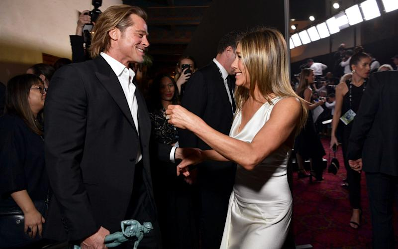 Brad Pitt and with his ex wife Jennifer Aniston, at the 2020 Screen Actors' Guild Awards - 2020 Getty Images