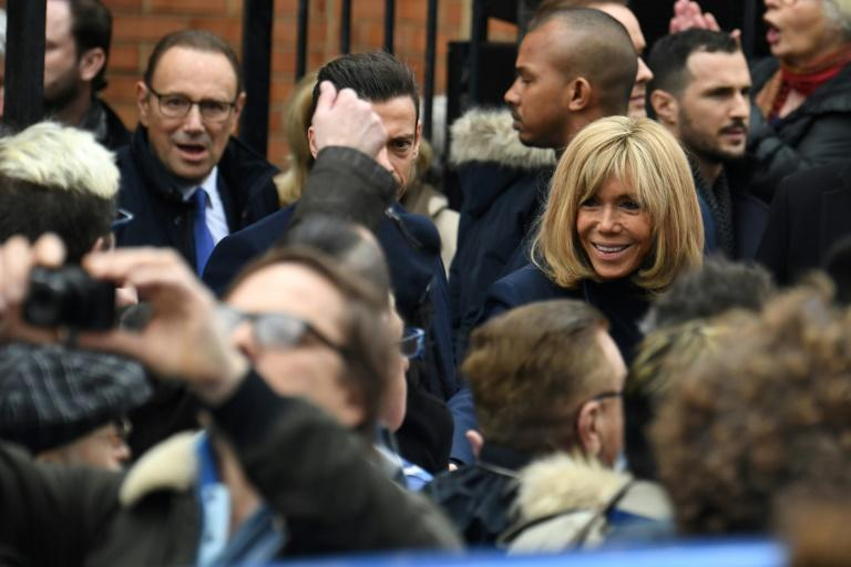 Brigitte Macron, the wife of the French president, was among the mourners for cabaret legend Michou