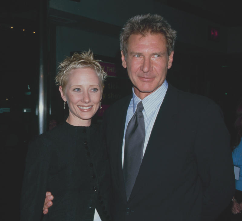 Anne Heche and Harrison Ford at 'Six Days, Seven Nights' at Sony Lincoln Square, 11th June 1998. (Photo by The LIFE Picture Collection via Getty Images)