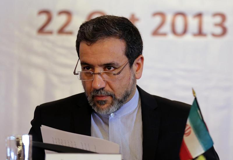 Iran's Deputy Foreign Minister Abbas Araqchi speaks in Tehran, on October 22, 2013