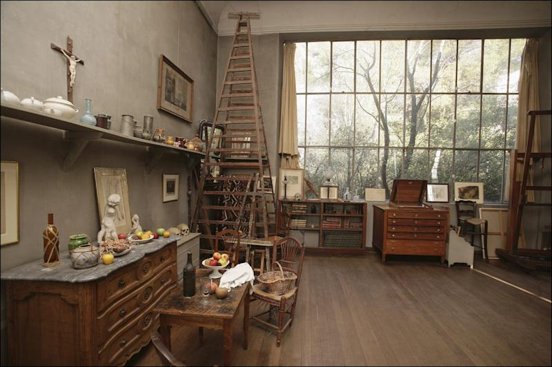 Paul Cezanne's studio, which is open to the public for visits.