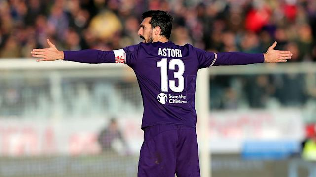 Serie A clubs Fiorentina and Cagliari have retired the number 13 shirt as a mark of respect to the late Davide Astori.
