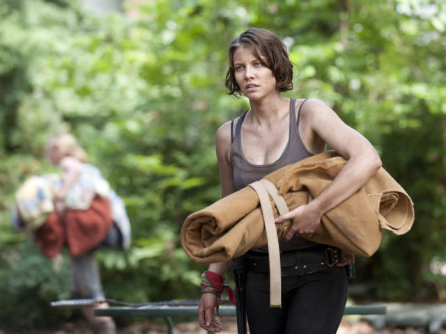 "Maggie Greene (Lauren Cohan) in ""Seed,"" the Season Three premiere episode of ""The Walking Dead"" on AMC."