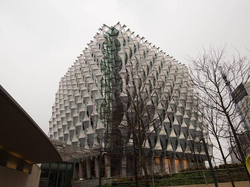 The new US embassy in Nine Elms, London (PA)