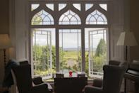 """<p>Ok, not directly on the beach, but this stunning hotel in Wales has views of the sea and is just stumbling distance to the powdery golden sands at Carmarthen Bay.</p><p>Sitting on the edge of the Pembrokeshire Coast National Park, this grand period property manages to combine tradition with light, bright, contemporary interiors - the ideal spot for a chic couple's escape.</p><p><a class=""""link rapid-noclick-resp"""" href=""""https://go.redirectingat.com?id=127X1599956&url=https%3A%2F%2Fwww.booking.com%2Fhotel%2Fgb%2Fpenally-abbey-country-house-and-restaurant.en-gb.html%3Faid%3D1922306%26label%3Dbeach-hotels-uk&sref=https%3A%2F%2Fwww.goodhousekeeping.com%2Fuk%2Flifestyle%2Ftravel%2Fg34584524%2Fbeach-hotels-uk%2F"""" rel=""""nofollow noopener"""" target=""""_blank"""" data-ylk=""""slk:CHECK AVAILABILITY"""">CHECK AVAILABILITY</a></p>"""