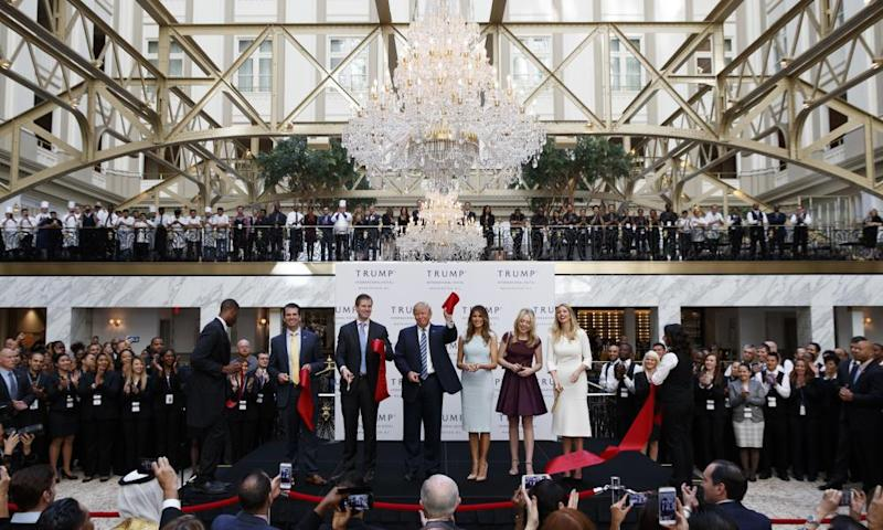 The Trump family attends the grand opening ceremony of the Trump International Hotel in Washington DC, on 26 October 2016.
