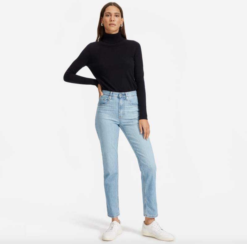 High-waisted and a relaxed fit throughout the leg make these a great option to wear every day. (Photo: Everlane)