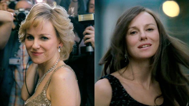 The two looks of Naomi Watts as 'Diana'