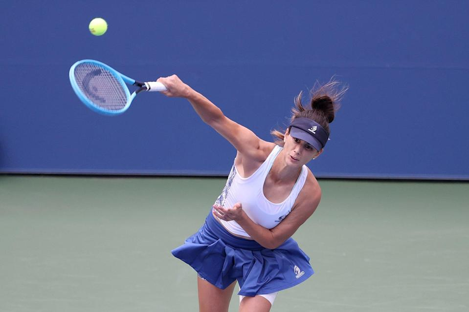 "<p>Pironkova, 32, is currently playing her <a href=""http://olympics.nbcsports.com/2020/09/07/serena-williams-us-open-maria-sakkari/"" class=""link rapid-noclick-resp"" rel=""nofollow noopener"" target=""_blank"" data-ylk=""slk:first tournament in three years"">first tournament in three years</a> since her 2017 Wimbledon appearance, NBC Sports reports. She was a semifinalist at Wimbledon in 2010, and she gave birth in 2018 to a son named Alexander, returning to tennis eight months ago.</p> <p>""Obviously, you become a different person,"" Pironkova said of motherhood, according to NBC Sports. ""You don't focus on yourself that much anymore."" She added that she's a lot more organized, has increased mental endurance, and knows her body better.</p>"