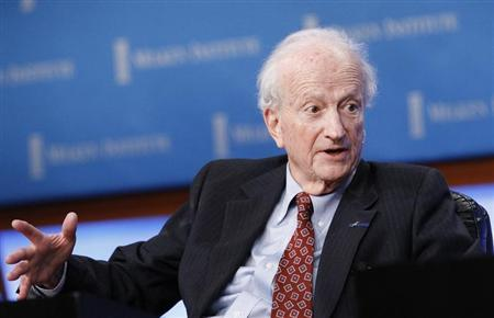 """Becker, Professor of Economics and Sociology, University of Chicago, speaks at the panel """"Marketplace of Ideas"""" during The Milken Institute Global Conference in Beverly Hills"""