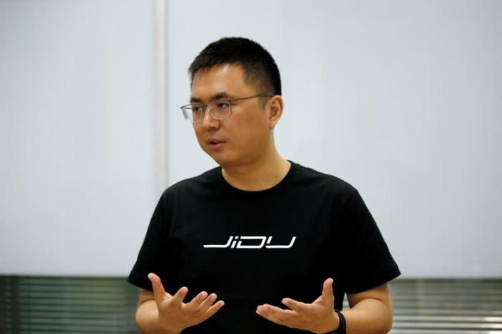 Jidu Auto CEO Xia Yiping attends an interview with Reuters in Beijing