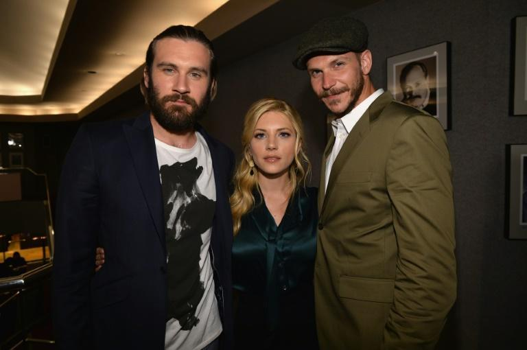 Clive Standen, Katheryn Winnick and Gustaf Skarsgard, stars of the 'Vikings' which has fostered interest in the world of Scandinavian warriors