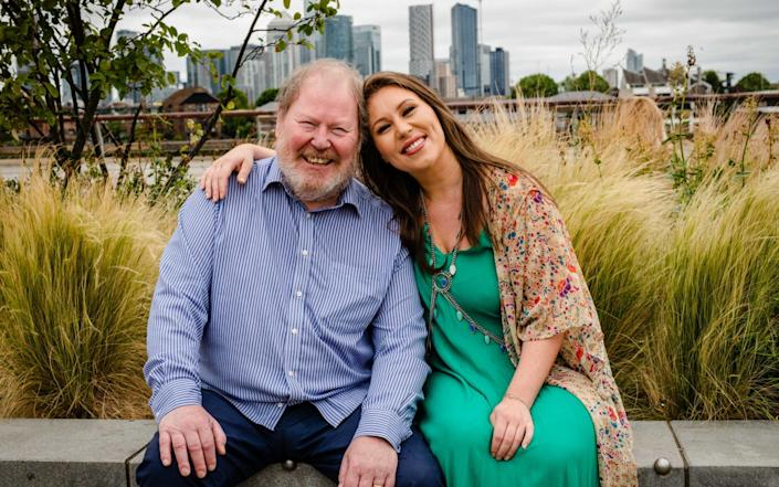 Ellie Phillips and her father Roger Phillips see each other for the first time since Christmas