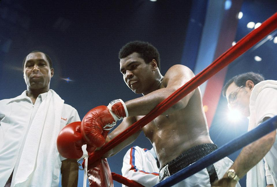 <p>Professional boxer Muhammad Ali died on June 3, 2016 at 74 from septic shock after living more than 30 years with Parkinson's disease. Photo from Getty Images </p>