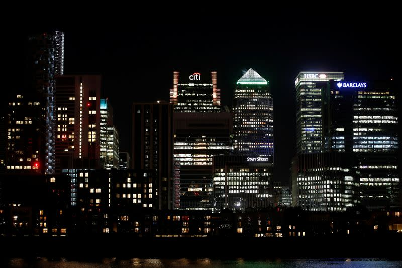 FILE PHOTO: Canary Wharf business district in London