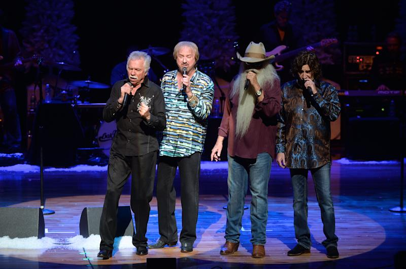 "The Oak Ridge Boys sang ""Amazing Grace"" for Bush during his 1989 inauguration ceremonies, in the White House and at this family's home in Maine. They then promised Bush they'd reprise the song at his funeral. (From left: Joe Bonsall, Duane Allen, William Lee Golden and Richard Sterban)"