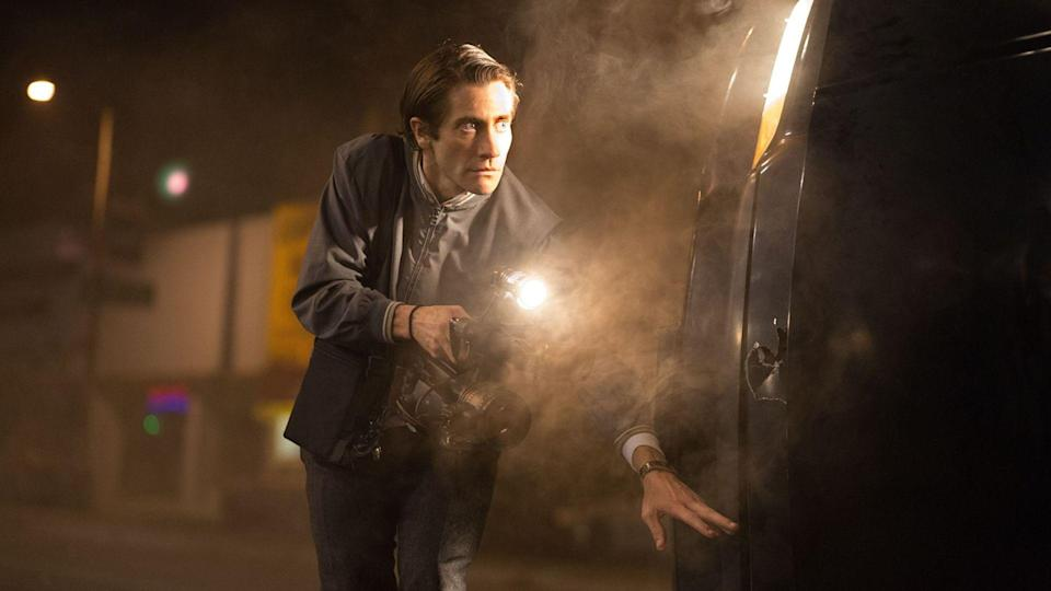 <p> <strong>Non-Netflix original available in US/UK</strong> </p> <p> Dan Gilroy&#x2019;s debut feature, Nightcrawler, is a ghoulish satire that trawls the dark corners and neon-soaked streets of LA that plays like Network&#xA0;meets&#xA0;Taxi Driver. Gaunt and bug-eyed, Jake Gyllenhaal excels as Lou Bloom, a lost soul who stumbles across a bloody road accident and stands transfixed as a TV news crew feeds off the carnage. After getting hold of a digital camera and a police scanner, Lou goes into business, prowling the city at witching hour and selling his crime footage to cutthroat producer Nina. If it bleeds, it leads. </p> <p> Gyllenhaal is ably supported by Riz Ahmed as his hired assistant, Bill Paxton as the head of a rival news crew, and Rene Russo, but this is Jake&#x2019;s gig. Sustained by blood and crookedly perky in a manner that recalls&#xA0;The King Of Comedy&#x2019;s sociopath Rupert Pupkin, Gyllenhaal&#x2019;s Lou is a chilling, mesmerising creation, none more so than when he gazes at the studio backdrop of the LA skyline and murmurs, lullaby-like, &#x201C;On TV it looks so real.&#x201D; </p>
