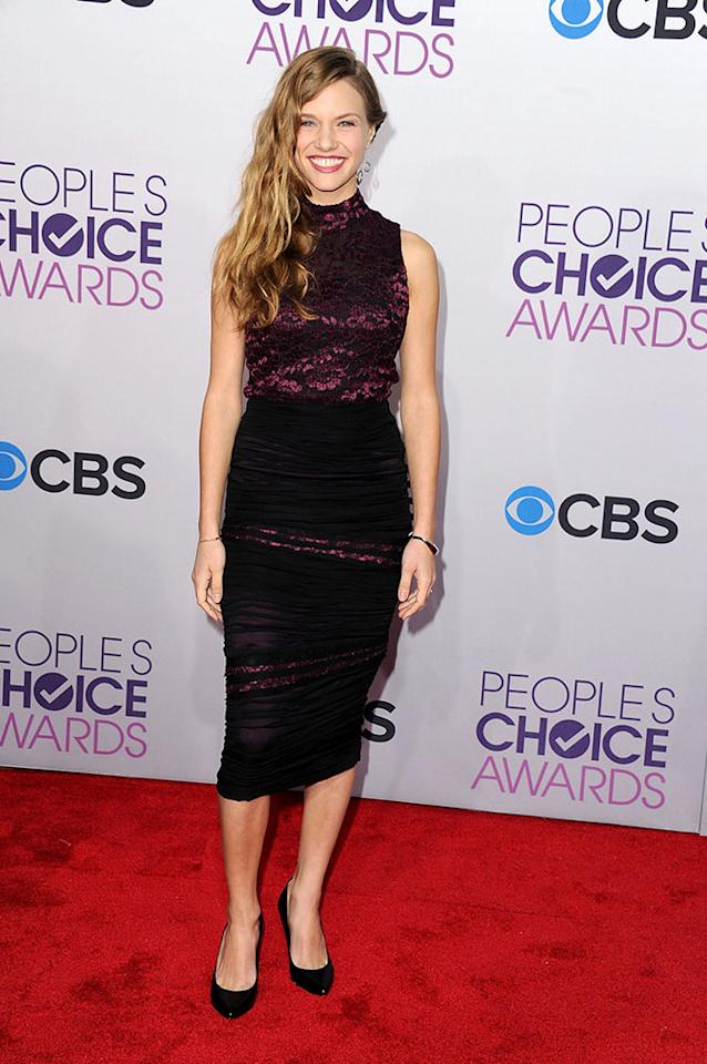 Tracy Spiridakos attends the 2013 People's Choice Awards at Nokia Theatre L.A. Live on January 9, 2013 in Los Angeles, California.