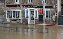 Floods in Guipry-Messac, Brittany, after the Vilaine River overflowed its banks. (Getty Images)