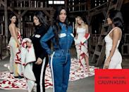 <p>Notably, though, Kylie Jenner does not feature in her Calvin underwear and in all of the shots has a strategically placed cloth or garment covering her stomach.</p>