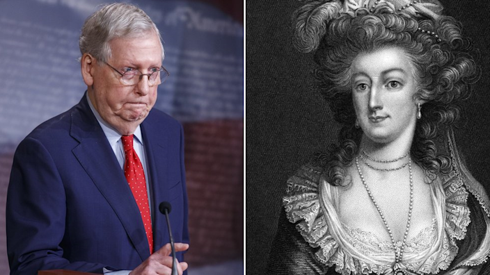 Why was Mitch McConnell likened to Marie Antoinette?