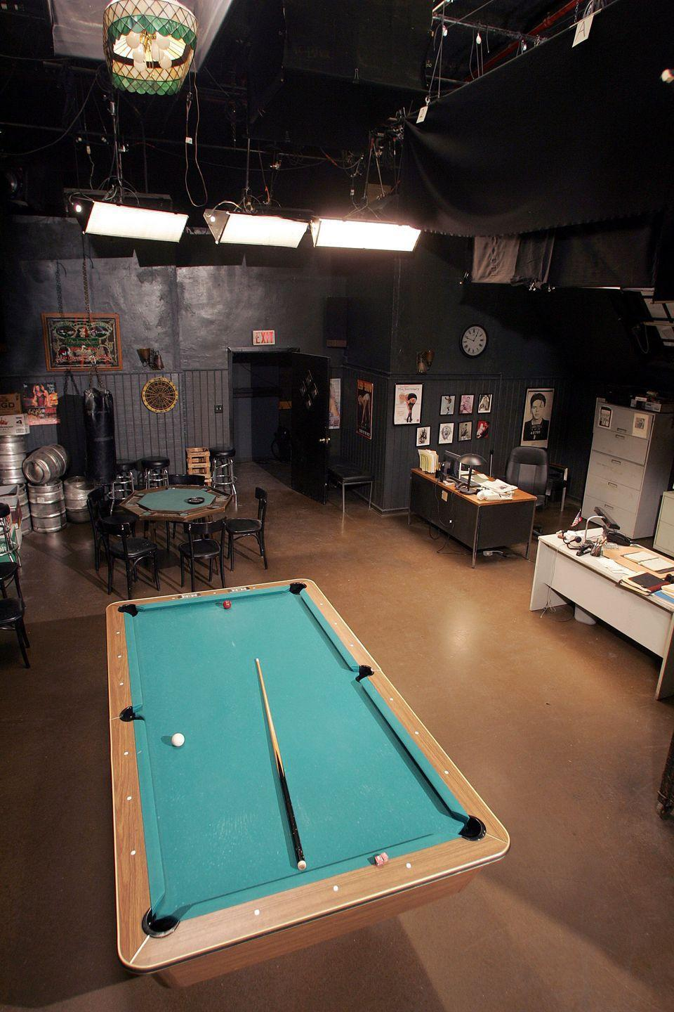<p>The back room of the Bada Bing! served as the location for many iconic moments on the show and was shot at Silvercup Studios in Queens, New York.</p>
