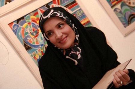 Hengameh Shahidi, a political prisoner who was arrested in early March, is seen in this undated handout photo said to be taken in Tehran