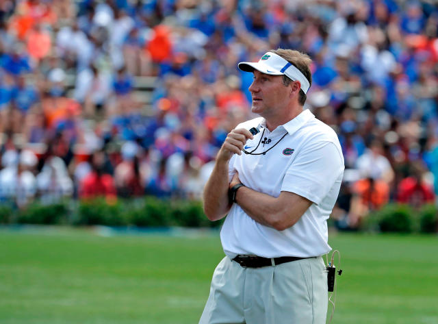 Don't play golf with Dabo Swinney. Your ball could explode like Dan Mullen's. (AP Photo/John Raoux, File)