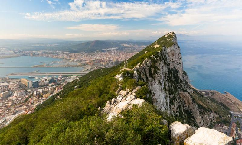 The Rock of Gibraltar, whose status has come under question as Britain prepares for Brexit negotiations with the EU.