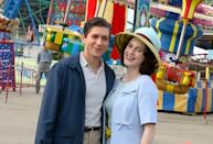 <p>Zegen and Brosnahan posed for a photo while filming together at Coney Island. Does this mean there's hope for the two in season 4? </p>