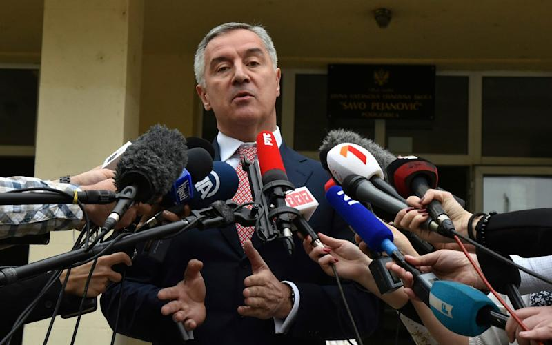 Montenegro's former Prime Minister and long-ruling Democratic Party of Socialists leader Milo Djukanovic - AP
