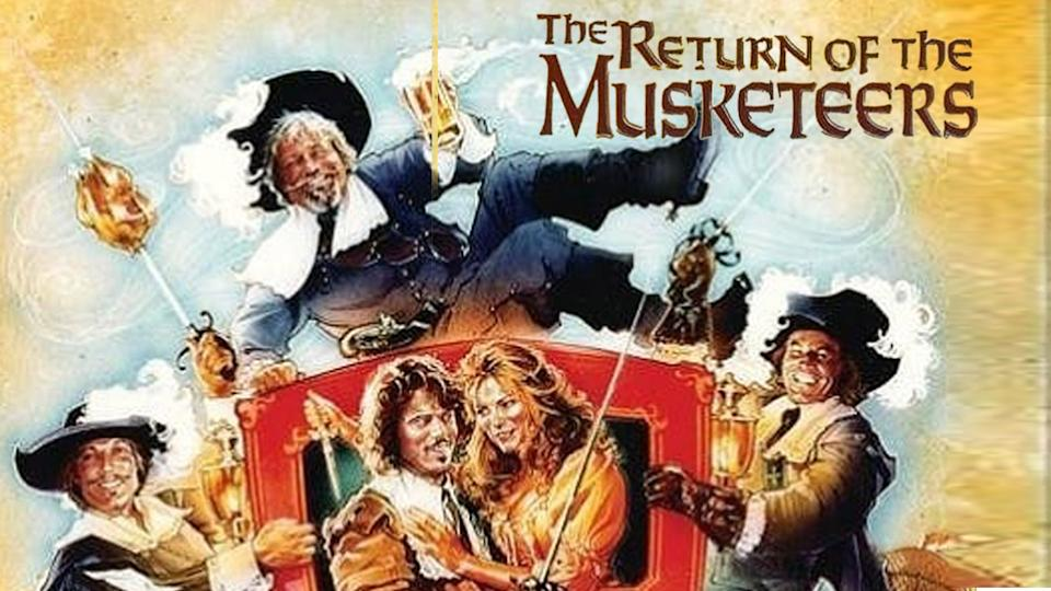 Detail from the poster for 1989's The Return of the Musketeers. (EFD)