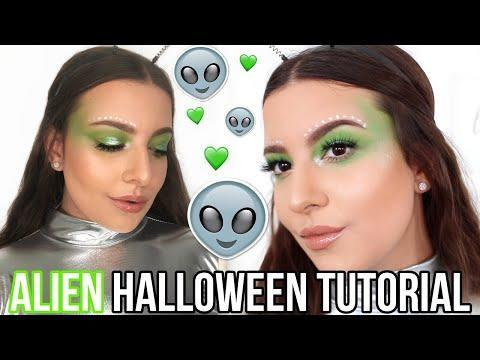 """<p>This alien makeup tutorial is as simple as it gets. All you need is vibrant green eyeshadow, white face paint for the dots, and a lil swipe of gloss to become this cute alien. And <strong>this one can be thrown together quickly without too many trips to Sephora</strong> (is there really such a thing as too many tho?). So if you're looking for an <a href=""""https://www.cosmopolitan.com/style-beauty/beauty/how-to/a44056/halloween-makeup-looks/"""" rel=""""nofollow noopener"""" target=""""_blank"""" data-ylk=""""slk:easy Halloween makeup idea"""" class=""""link rapid-noclick-resp"""">easy Halloween makeup idea</a> on October 31, you've found it.</p><p><a href=""""https://www.youtube.com/watch?v=C1W6nx5R2EI"""" rel=""""nofollow noopener"""" target=""""_blank"""" data-ylk=""""slk:See the original post on Youtube"""" class=""""link rapid-noclick-resp"""">See the original post on Youtube</a></p>"""